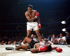 "Muhammad Ali standing over Sonny Liston Boxing 8""x 10"" Photo"