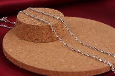 Fashion Silver Jewelry Sliver Water Wave Necklace Chain 16-30 inch