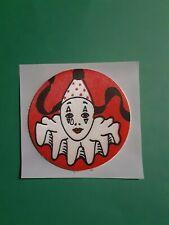vtg 80's Russ? satin raised clown sticker *restored* (free ship $20 min)