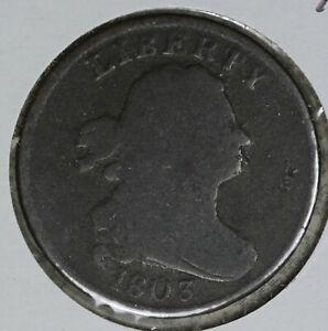 Nice Original 1803 US Draped Bust Half Cent!