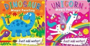 2 X Kids Magic colouring book - Just add water fun activity