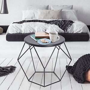 HOMCOM Coffee Table Side Table Nordic Minimalist Style Steel Living Room