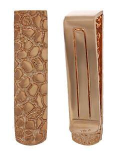 Men's 14k Rose Gold Solid Nugget Money Clip Money Holder Wallet 15.4 grams