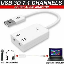 External Virtual USB 2.0 For Laptop Audio Adapter Converter Stereo Sound Card CA