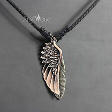NEW Hemp Metal Black Men's Pendant Wing & Feather Surfer Necklace Choker np027
