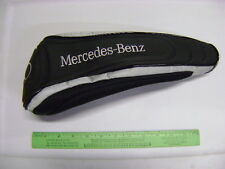 NEW MERCEDES BENZ GOLF CLUB DRIVER ZIPPER HEADCOVER BLACK & SILVER HEAD COVER