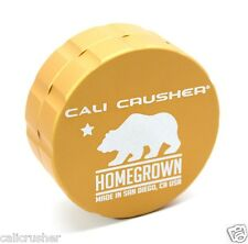 Cali Crusher Homegrown Herb, Spice & Tobacco Grinder Aluminum 2 Piece New Gold