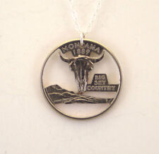 Montana, Cut-Out Coin Jewelry, Necklace/Pendant