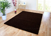 SMALL - EXTRA LARGE DARK CHOCOLATE BROWN THICK SOFT NON-SHED SHAGGY RUGS  SALE