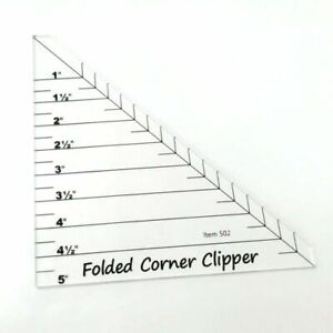 Folded Corner Clipper Quilting Templates Ruler Hight Quality Ruller Constuction