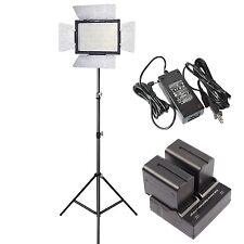Yongnuo YN-600 3200-5500k LED Video Light , AC Power Adapter + 2 NP-F970 Battery