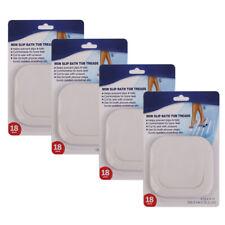 4 Set 72pcs Safety Strips Bath Tub Shower Adhesive Appliques Non Slip Treads