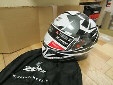 ZOX  Z-FF10 FULLFACE  HELMET -  MOTORCYCLE SCOOTER SLED  - ADULT 2XL DARK SILV