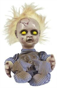 Creepy Doll Blonde Animated Scary Blonde Hair Kicking and Crying
