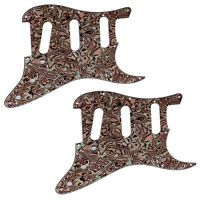 2 Pcs Electric Guitar 3 Ply 11 Hole Bronze Shell SSS Pickguard for Fender Strat