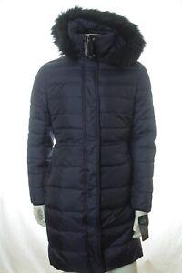 BNWT RALPH LAUREN WOMEN NAVY QUILTED LONG DOWN COAT JACKET SIZE XS RRP £355