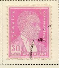 Turkey 1950-51 Early Issue Fine Used 30k.