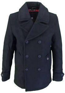 merc of London Men's Doyle Pea Coat,