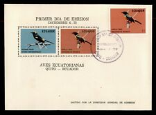 Dr Who 1973 Ecuador Fdc Bird C238097