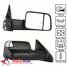 L/R Power Heated Telescoping Tow Mirror For Dodge Ram 98-01 1500/98-02 2500 3500