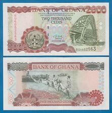 Ghana 2000 Cedis P 33g 2002 UNC Low Shipping! Combine FREE!  P 33 g
