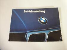 BMW E34 520i 525i 530i 535i Bedienungsanleitung Betriebsanleitung  Stand 1988