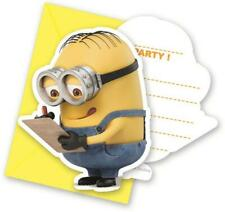 Lovely Minions Shaped Party Invitations & Envelopes x 6