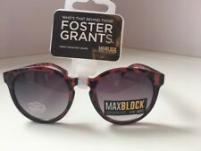 FOSTER GRANTS Designer - 'Berry' Fashion Sunglasses -100% UVA-UVB MAX BLOCK