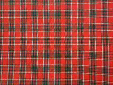Remnants  Wool Red Gingham Check Fabric & Check 80'' (2 1/4 yards)