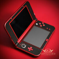 SopiGuard Black Carbon Fiber Vinyl Skin Full Body For New 3DS XL LL