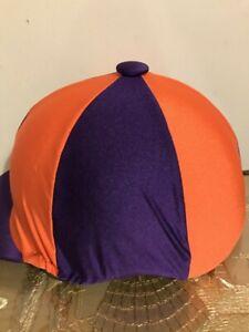 Riding Hat Cover Purple & Orange