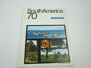 Vintage 1970 American Express South American Tour Travel Book Advertising PUL48