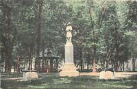 Geneseo Minnesota~1891 Monument in City Park~Cannons & Balls~Bandstand c1908
