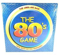New The 80s Game: Party Family Game - Trivia Board Game (2001) Factory Sealed