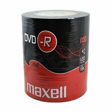 100 Maxell DVD-R 4.7GB (16x) 120Min DVDR In Shrink Wrap 4.7gb Gold Top