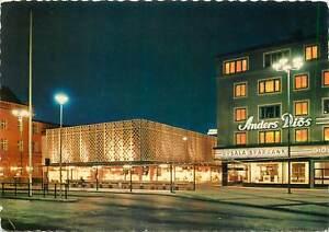 Postcard Sweden uppsala stora torget the main square night view street
