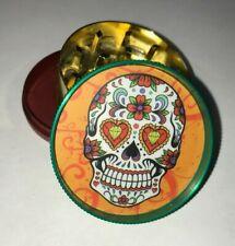 Orange Sugar Skull Rasta Tobacco Metal Grinder Hand Muller Herbal Smoke Crusher
