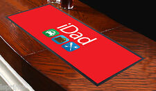 IDAD RED Bar Towel Runner Pub Mat Beer Cocktail Party Gift FATHER DAD