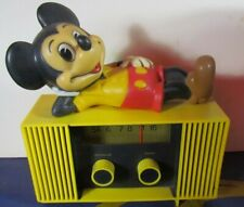 Vintage 1960s Mickey Mouse Am Tabletop 9V Radio - Great Condition