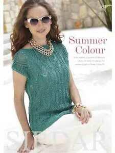 Sirdar Summer Colour Book 457 - patterns using Sirdar Cotton DK