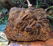 Bunnies Bunny Blackened Beeswax Cinnamon Scented Folk Art PRiMiTiVE Ornament