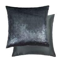 Metálico Tacto de Terciopelo Seda Artificial Oscuro Plata 55.9cm-55CM