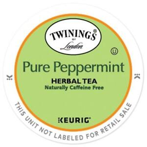 Twinings Pure Peppermint Herbal Tea 24 to 144 Count Keurig K cups Pick Any Size