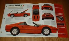 1977 FERRARI 308 GTS SPEC SHEET BROCHURE PHOTO POSTER PRINT 74 75 76 77 79 80 85