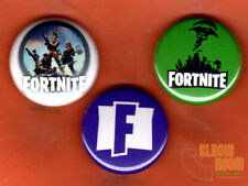 "Set of three 1"" Fortnite pins buttons logo Epic games Battle Royale"