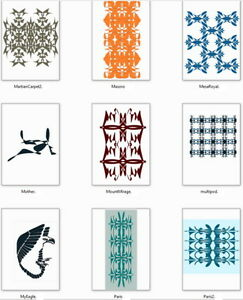 Digital Graphic Arts Design Patterns Fashion Fabric Tile Inlay Wallpaper Carpet