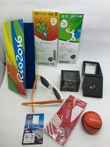KIT OLIMPIC GAMES RIO 2016 OFFICIAL - TICKETS / PINS 3D / SUN GLASS /  COCA-COLA