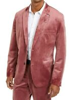 INC Mens Blazer Dusty Rose Pink Size 2XL Slim Fit Velvet Two Button $149 182