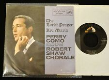 PICTURE SLEEVE Perry Como W/ The The Robert Shaw Chorale RCA 7650