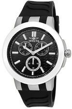 Invicta Ceramics 22207 Men's Round Black Analog Day & Date Silicone Watch